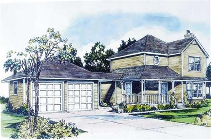 2-Bedroom, 2558 Sq Ft Country House Plan - 146-2548 - Front Exterior