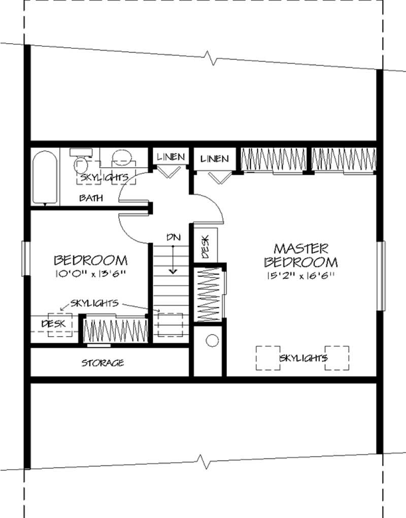 Vacation house plans home design ls h 9702 a for Second story floor plan
