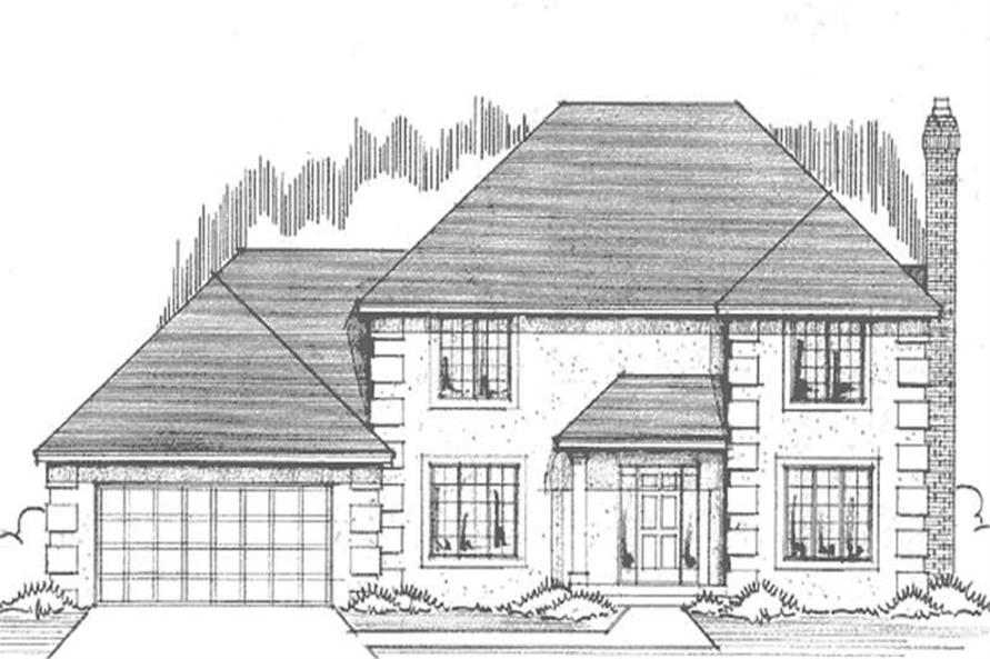 4-Bedroom, 2244 Sq Ft French Home Plan - 146-2553 - Main Exterior