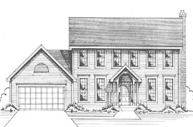 4-Bedroom, 2166 Sq Ft Colonial Home Plan - 146-2561 - Main Exterior