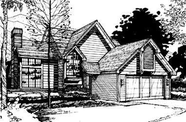 3-Bedroom, 1928 Sq Ft Cape Cod Home Plan - 146-2562 - Main Exterior