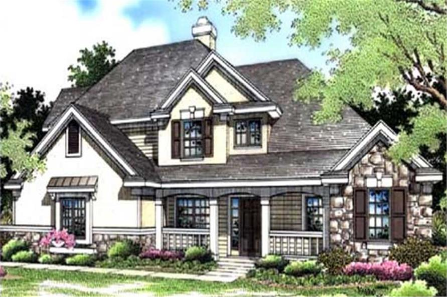 This is the colored rendering of European Houseplans LS-B-94017.