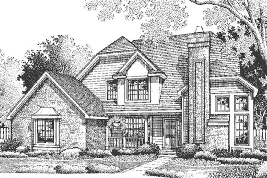 This is the front elevation of European Home Plans LS-B-94018.