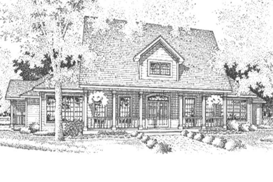 3-Bedroom, 3032 Sq Ft Cape Cod Home Plan - 146-2566 - Main Exterior