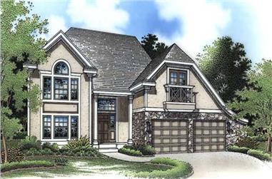 3-Bedroom, 2023 Sq Ft European House Plan - 146-2567 - Front Exterior