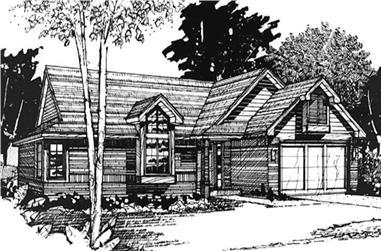 2-Bedroom, 1120 Sq Ft Ranch Home Plan - 146-2569 - Main Exterior