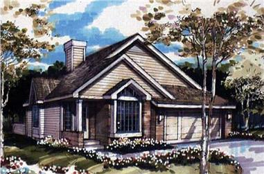 2-Bedroom, 1270 Sq Ft Country House Plan - 146-2570 - Front Exterior