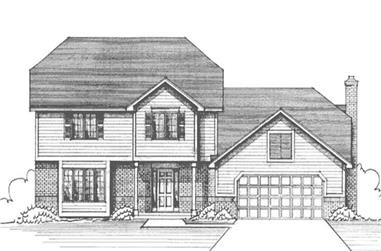 4-Bedroom, 2425 Sq Ft Colonial House Plan - 146-2572 - Front Exterior