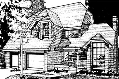 3-Bedroom, 3126 Sq Ft Country Home Plan - 146-2573 - Main Exterior