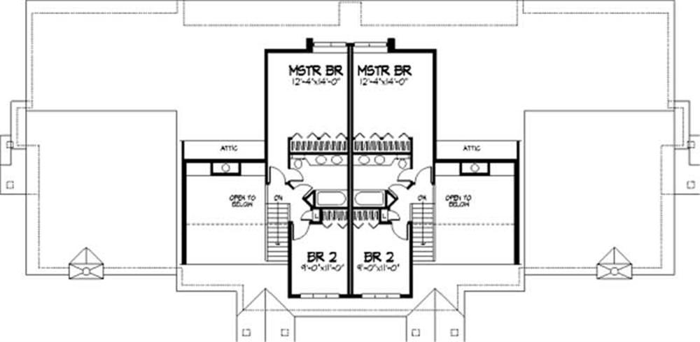 Large images for house plan 146 2574 for 2nd story floor plans