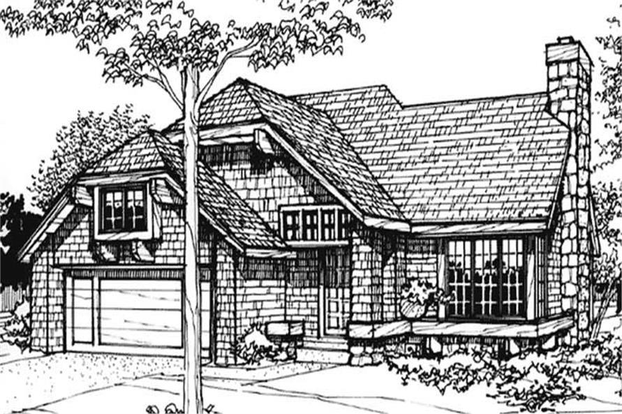 3-Bedroom, 1485 Sq Ft Cape Cod Home Plan - 146-2575 - Main Exterior