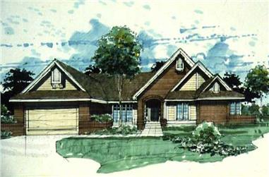4-Bedroom, 2421 Sq Ft Ranch Home Plan - 146-2577 - Main Exterior