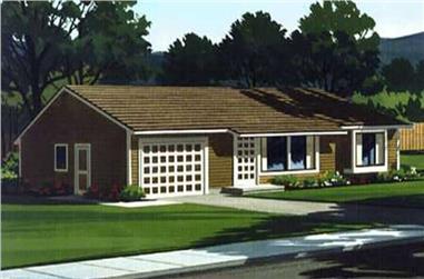 3-Bedroom, 1085 Sq Ft Ranch Home Plan - 146-2578 - Main Exterior