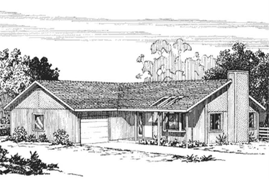 Front View of these home plans