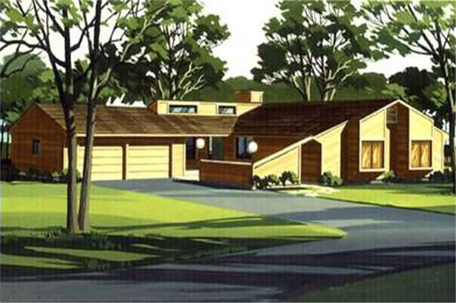 Color Rendering of house plan LS-H-1382-1A