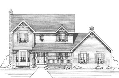 4-Bedroom, 2369 Sq Ft Country House Plan - 146-2594 - Front Exterior