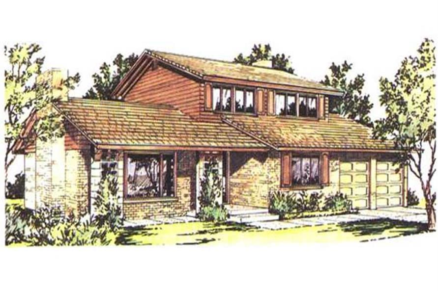 Color Rendering from this home design
