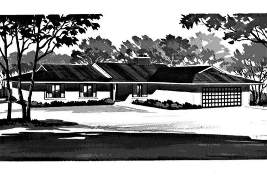 Front View of this home design