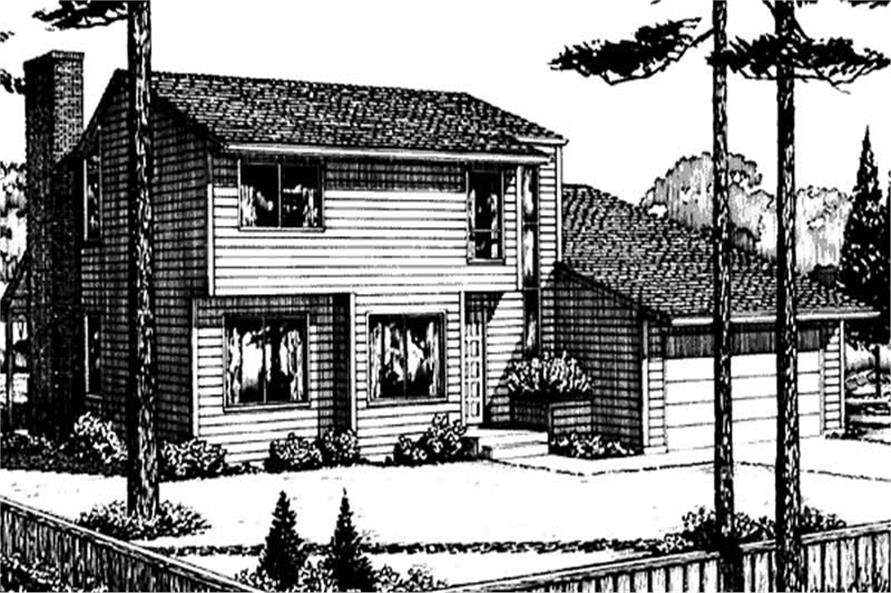 Front Elevation of this houseplan