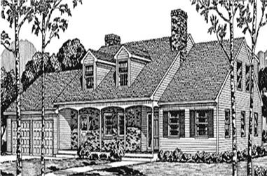 4-Bedroom, 2774 Sq Ft Colonial House Plan - 146-2609 - Front Exterior
