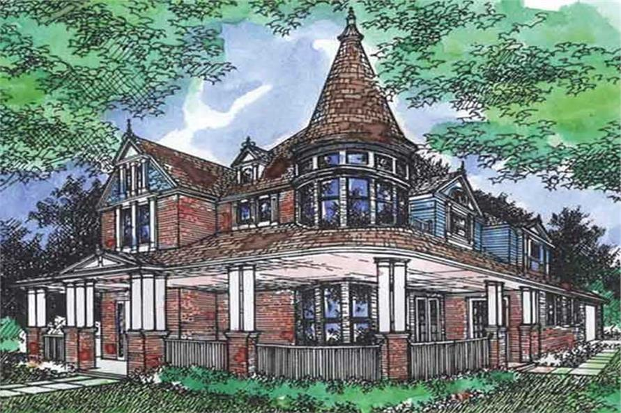 5-Bedroom, 4124 Sq Ft Victorian House Plan - 146-2614 - Front Exterior