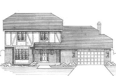 3-Bedroom, 2400 Sq Ft Tudor House Plan - 146-2623 - Front Exterior