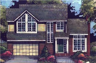 3-Bedroom, 1854 Sq Ft Country Home Plan - 146-2631 - Main Exterior