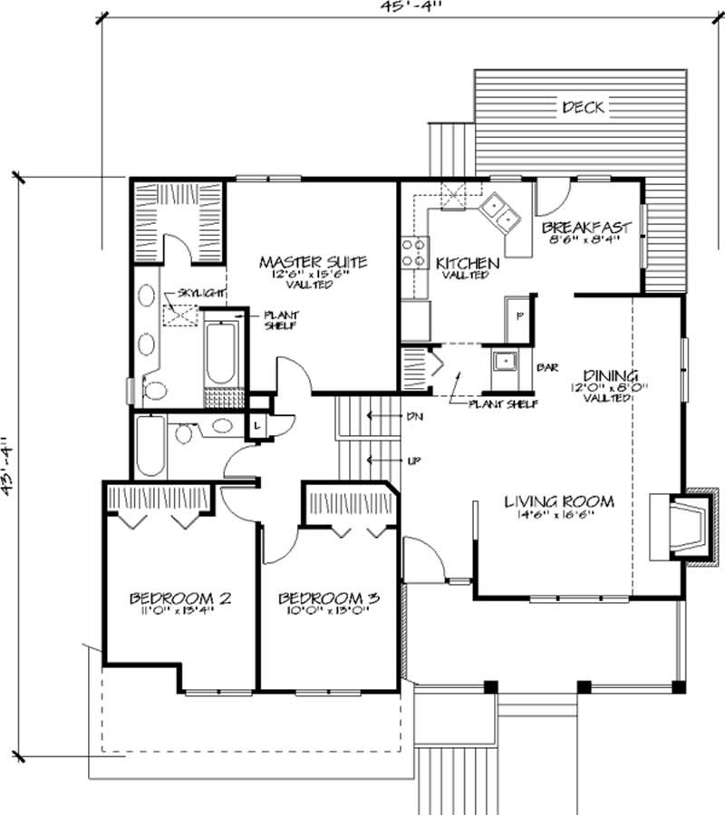 House plan 146 2634 3 bedroom 1847 sq ft country for Multi level home floor plans