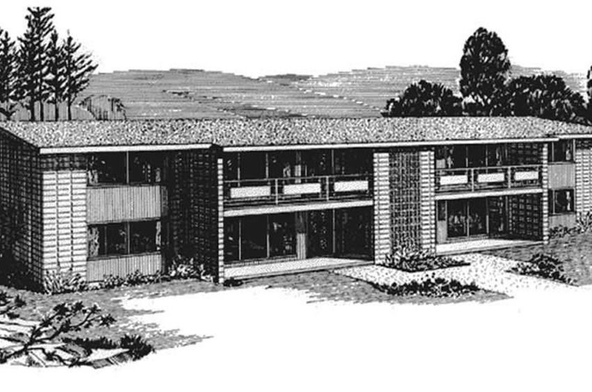 Multi unit house plan 146 2638 2 bedrm 768 sq ft per for Multi unit house plans