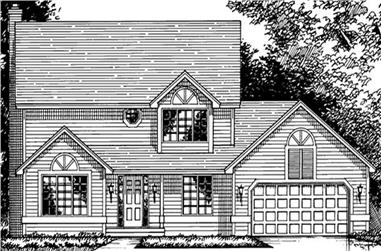 3-Bedroom, 1962 Sq Ft Craftsman House Plan - 146-2640 - Front Exterior