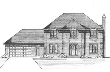 4-Bedroom, 2501 Sq Ft Colonial Home Plan - 146-2644 - Main Exterior