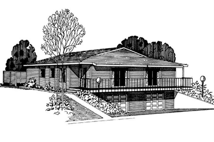 2-Bedroom, 1625 Sq Ft Condominiums Home Plan - 146-2645 - Main Exterior