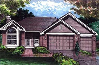 2-Bedroom, 2228 Sq Ft Country House Plan - 146-2646 - Front Exterior