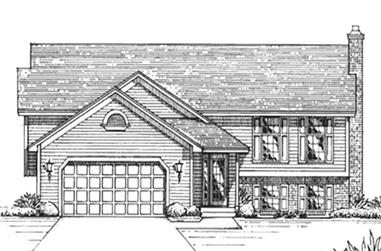 3-Bedroom, 1400 Sq Ft Country House Plan - 146-2647 - Front Exterior