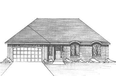 2-Bedroom, 1778 Sq Ft European House Plan - 146-2648 - Front Exterior