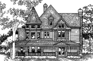 5-Bedroom, 4898 Sq Ft Country Home Plan - 146-2663 - Main Exterior
