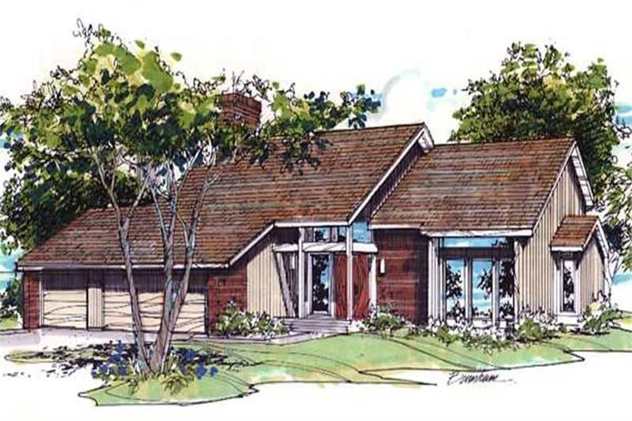 Home Plan Front Elevation of this 3-Bedroom,2444 Sq Ft Plan -146-2673