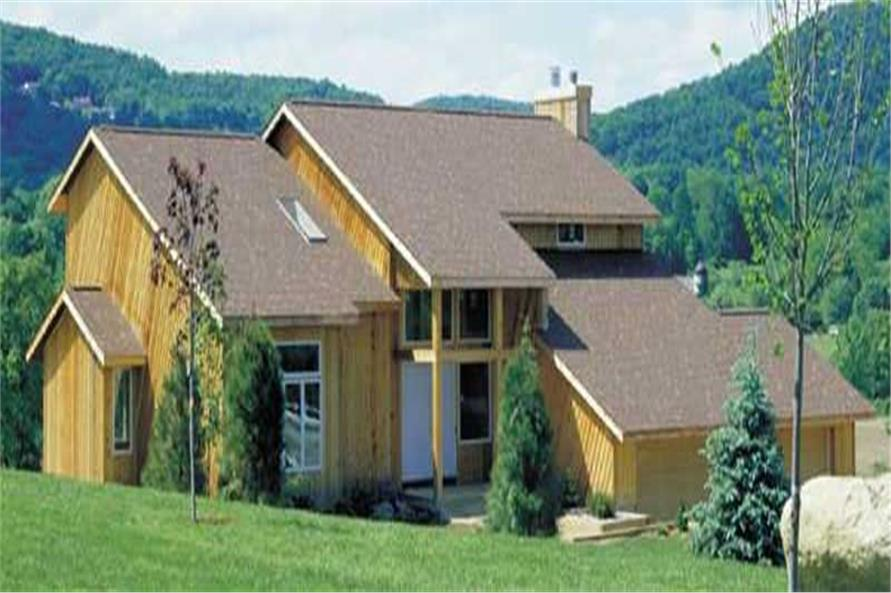 3-Bedroom, 2444 Sq Ft Contemporary Home Plan - 146-2673 - Main Exterior