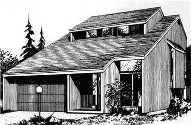 3-Bedroom, 1860 Sq Ft Modern Home Plan - 146-2675 - Main Exterior