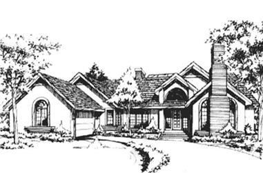 3-Bedroom, 3412 Sq Ft Ranch Home Plan - 146-2676 - Main Exterior