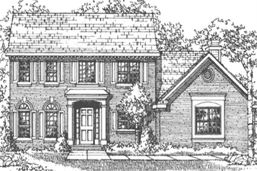 Home Plan Front Elevation of this 4-Bedroom,2345 Sq Ft Plan -146-2679