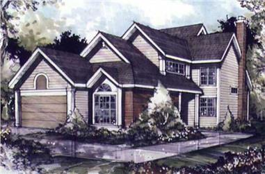 3-Bedroom, 2125 Sq Ft Cape Cod Home Plan - 146-2681 - Main Exterior