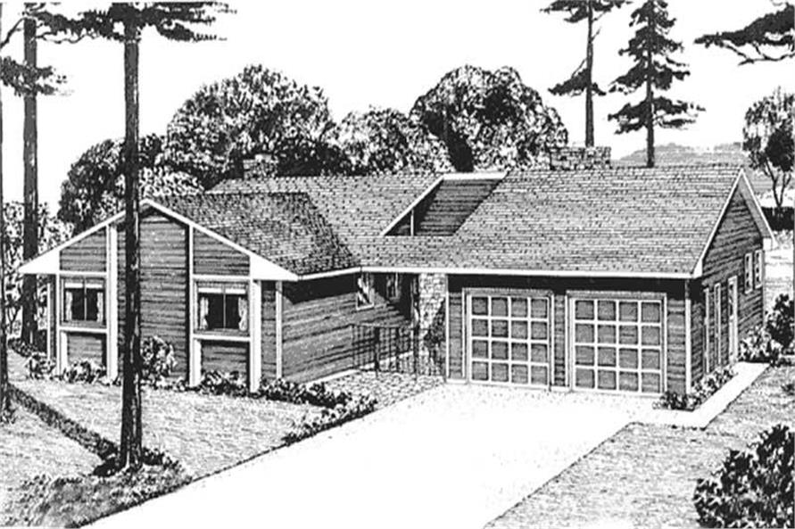 Home Plan Rendering of this 3-Bedroom,1865 Sq Ft Plan -146-2684