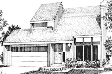 3-Bedroom, 1500 Sq Ft Modern House Plan - 146-2687 - Front Exterior