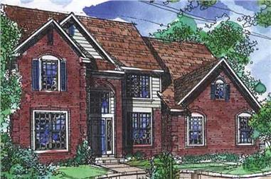 3-Bedroom, 2819 Sq Ft Cape Cod Home Plan - 146-2688 - Main Exterior