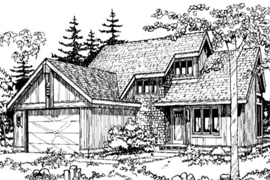 Home Plan Front Elevation of this 2-Bedroom,1498 Sq Ft Plan -146-2690