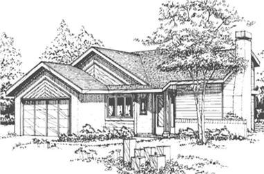 2-Bedroom, 1163 Sq Ft Craftsman Home Plan - 146-2692 - Main Exterior