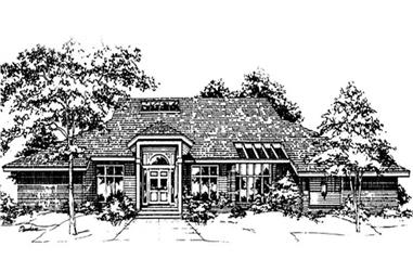 3-Bedroom, 3576 Sq Ft Ranch House Plan - 146-2695 - Front Exterior