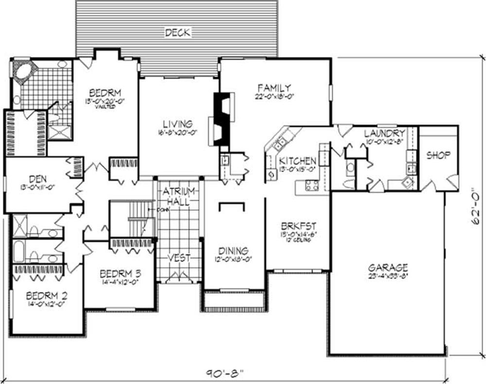Large Images For House Plan 146 2695