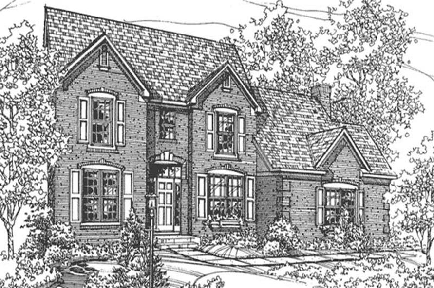 3-Bedroom, 2290 Sq Ft Colonial House Plan - 146-2696 - Front Exterior